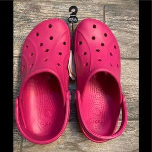 """NWT Crocs hot pink shoes """"Ralen clog"""" sz 10 women"""